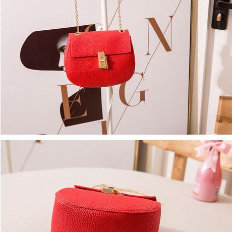 BROWN★gold  chain  shoulder  bag-07