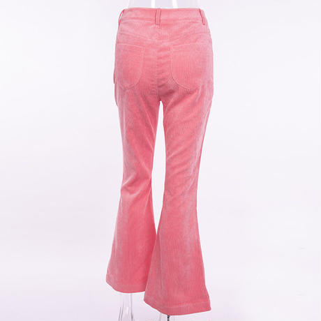 PINK★bellbottom corduroy  pants  bot-60