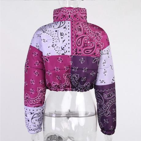 PURPLE★paisley  short  jacket   jac-16