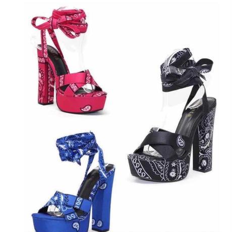 BLACK★paysley★high heel  sho-08