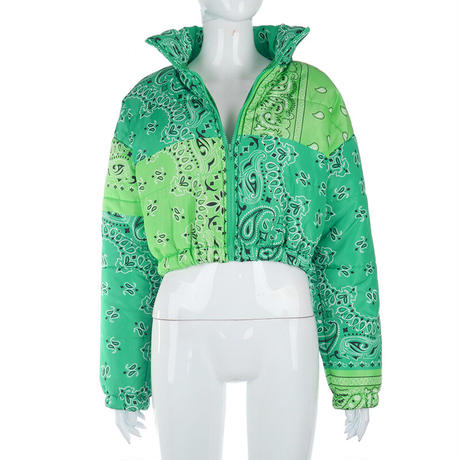 GREEN★paisley  short  jacket   jac-15