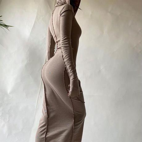 IVORY★foodie long  dress  one-224
