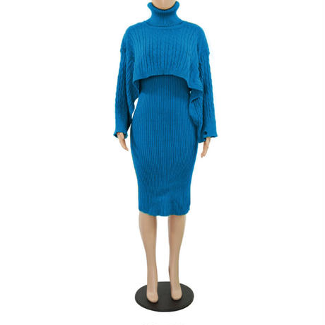 BLUE★turtleneck dress  one-149