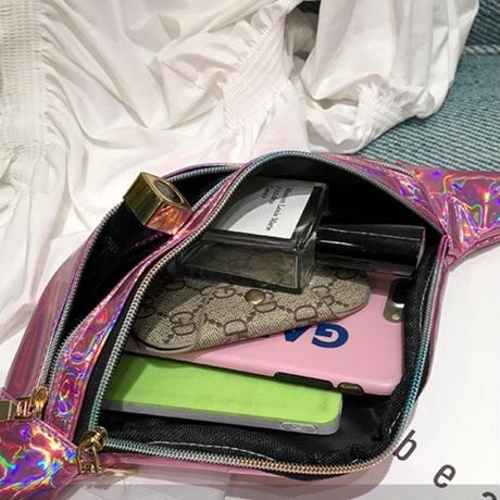 PINK★メタリックカラー ウエストポーチbag-5