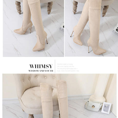 IVORY★ ping  heal  long   boots  sho-108