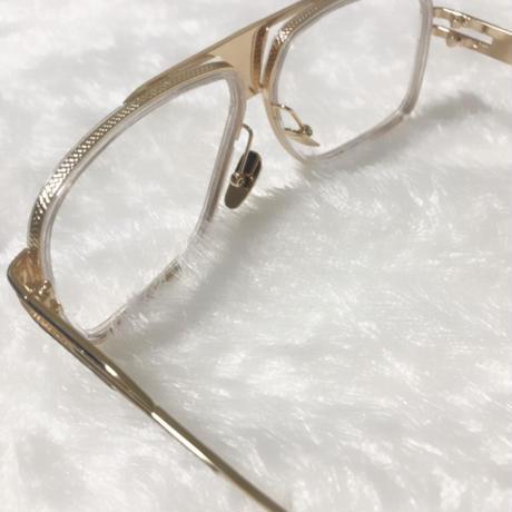 Tear drop♡gold frame clear sunglasses