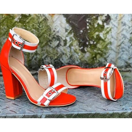 BLACK★bi-color★uncle  strap  sandal  sho-12