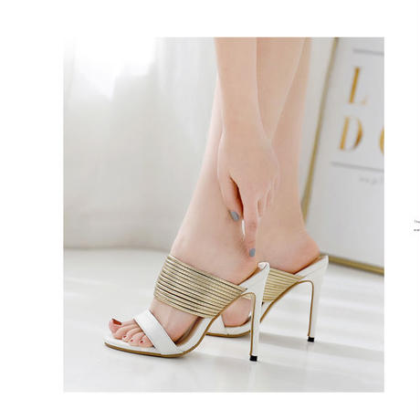 BLACK♡gold arch   sandal  sho-56