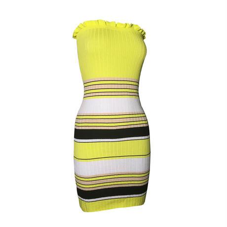 YELLOW★border line dress  one-70