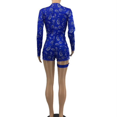 BLUE  PAISLEY★rompers  one-106