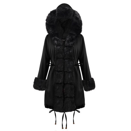 BLACK×BLACK★fake fur coat  jac-05
