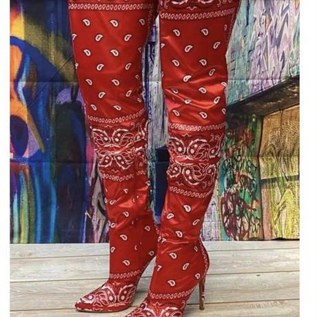 BLACK★paisley  kneehigh boots  sho-130