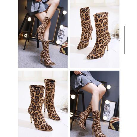 leopard short   boots  sho-103