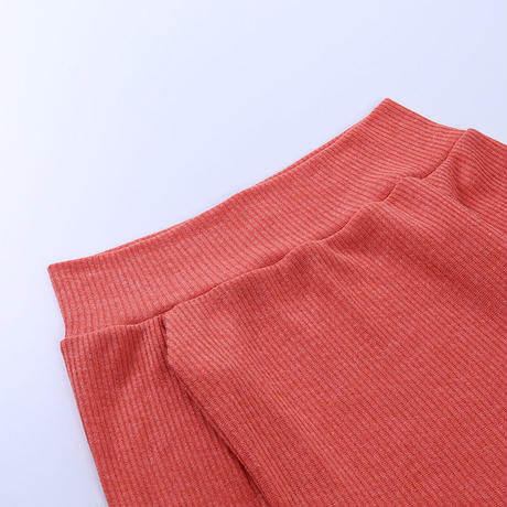 RED★rib offshoulder  dress  one-127