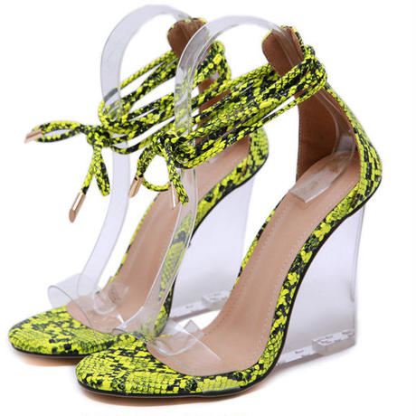 PINK★Python  string  sandal   sho-80