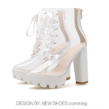 WHITE♡simple  crear  boots   sho-71
