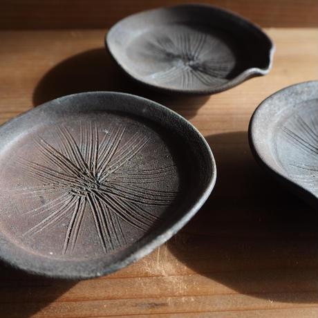 焼締 片口豆皿