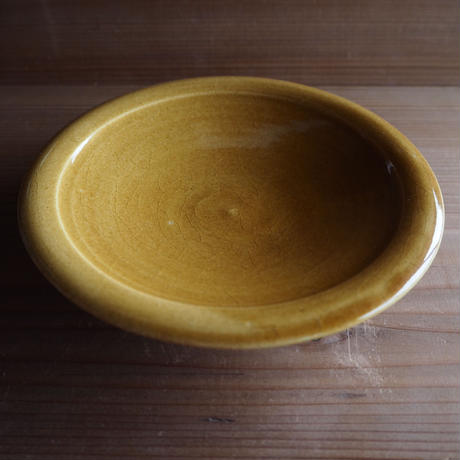 黄釉 浅鉢