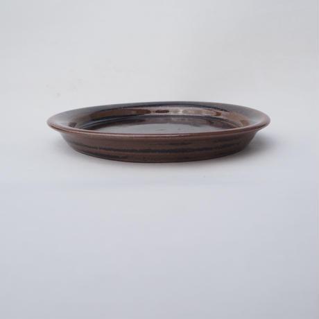 鉄釉 平小皿