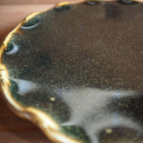 黒釉 平波皿