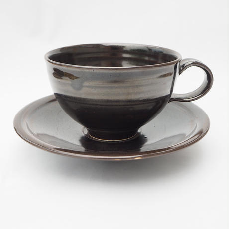 黒釉 カップ&ソーサー