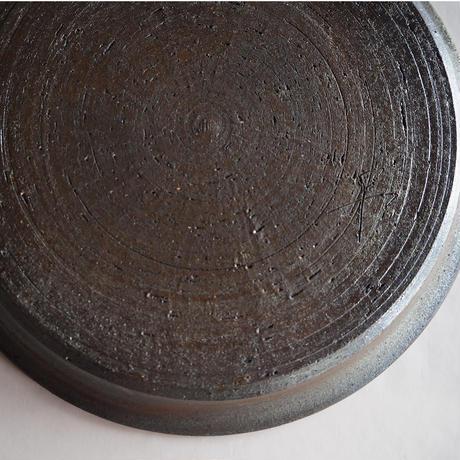 焼締 丸紋プレート