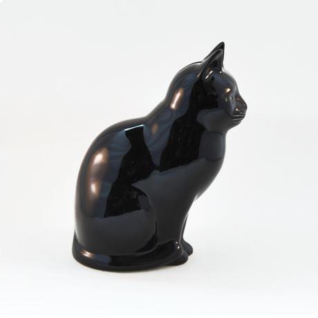 QUAIL Ceramics 貯金箱(黒猫)