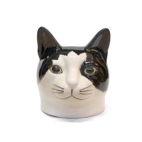 QUAIL Ceramics エッグカップ(黒ブチ)