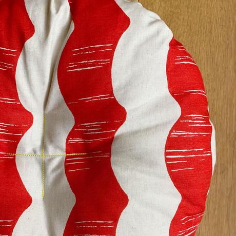 【楕円・Lサイズ】天然素材100%のカゴ・クッションのセット