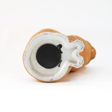 QUAIL Ceramics 貯金箱(茶白)