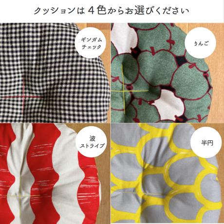 【丸・Mサイズ】天然素材100%のカゴ・クッションのセット