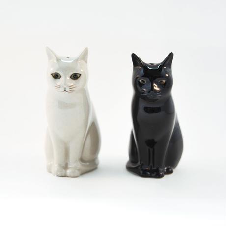 QUAIL Ceramics ソルト&ペッパー(白猫&黒猫)