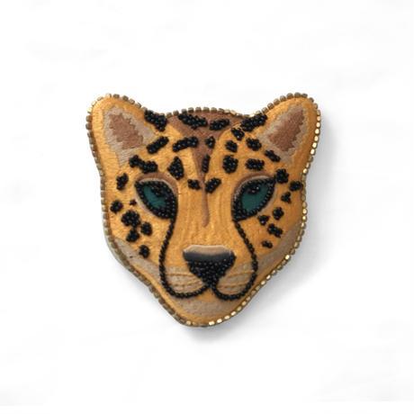 レオパード刺繍ミラー