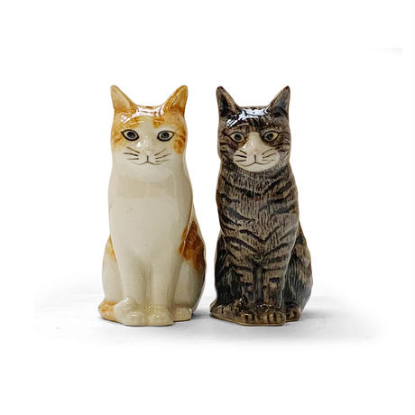 QUAIL Ceramics ソルト&ペッパー(茶白&キジトラ)