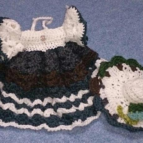 お嬢様のドレスと帽子のセット