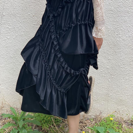 velour gathered dress