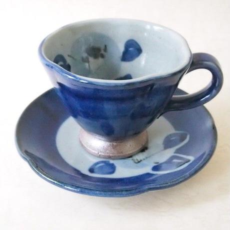 輪花椿柄コーヒーカップ&ソーサー