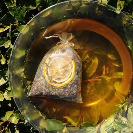 飲める素材だけで作った入浴剤「ほっこり茶の湯-さわやか」