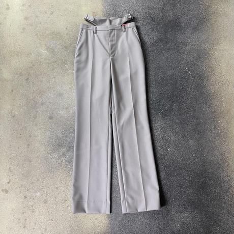 WOMENS STRAIGHT PANTS WITH WAIST BELT / BEIGE