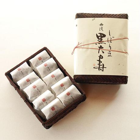 しぼり豆丹波黒大寿 小袋10袋入り籠