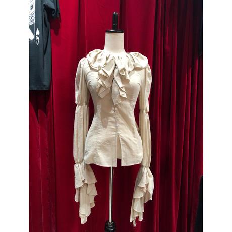 camel antique like 袖ゴージャス frill&back lace