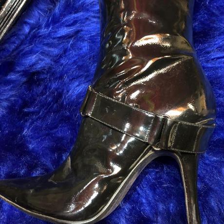 enamel  knee  High boots
