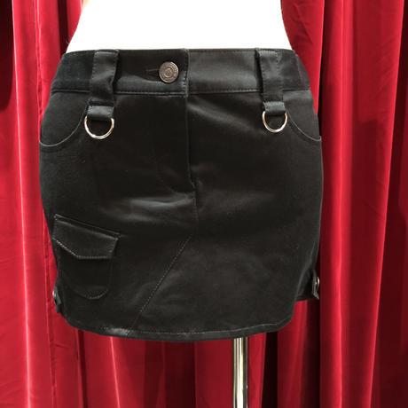 D&zipper fetish 光沢mini skirt