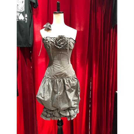 Flower silver drape dress
