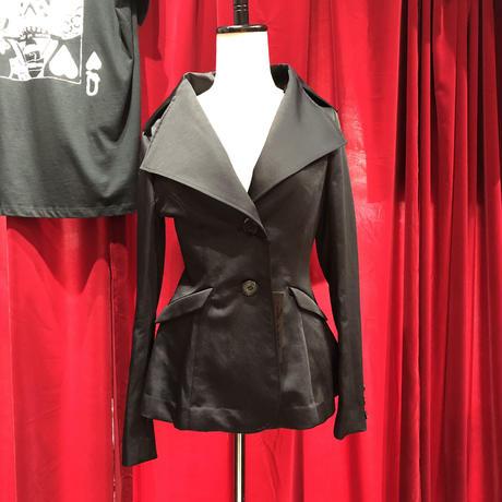 秋物satin big collar D jacket