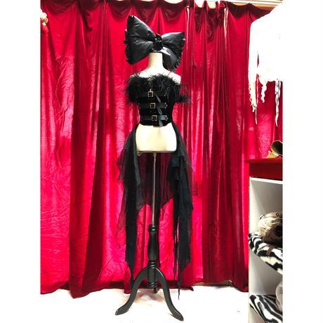 Feather corset & Organdy sk