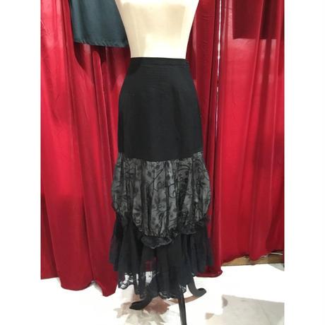 organdy gather  long skirt