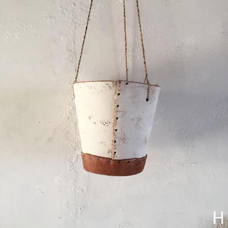 Hanging Planter Pot   (Natural/White)