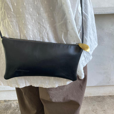 レザーポーチ(wallet set) 黒