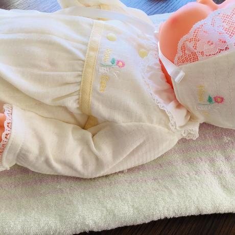 〈ご退院パーフェクトセット ベビーブルードレス〉オススメ♪HowCute®︎低出生体重児ドレスガウン&肌着&うさちゃんいっぱい9点セット